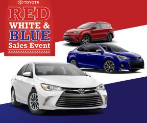 Red White And Blue Auto Sales >> The Toyota Red White Blue Sales Event Is Here Della Toyota And
